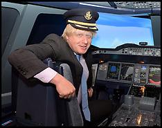 File photo  of  Boris Johnson in a cockpit