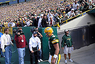 (2004)-Brett Favre is introduced before the Packer/Giants game. .