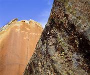 0113-1051 ~ Copyright:  George H. H. Huey ~ Anasazi culture petroglyph.  Petrified Forest National Park, Arizona.