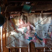 Interior del rancho El Aguila Solitaria propiedad del Sr. Meza en las cercanías de San Miguel de Comondú.