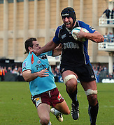 2005/06 Heineken Cup, Bath Rugby vs Bourgoin, Danny Grewcock runs in for a second half try. The Rec, Bath,  ENGLAND:    29.10.2005   © Peter Spurrier/Intersport Images - email images@intersport-images..