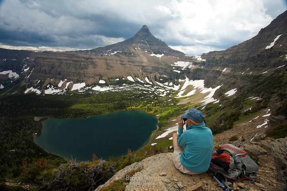 Susi Hauser, Pitamakan Pass trail, Glacier National Park, Montana