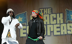 will.i.am and Taboo, of The Black Eyed Peas perform on the main stage at T in the Park 2004..Pic ©2010 Michael Schofield. All Rights Reserved.