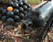 Cannon Balls and Jack o Lantern, Central Square, Keene Pumpkin Festival