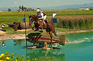 Cross Country event in Eventing competition at The Event at Rebecca Farms in Kalispell Montana