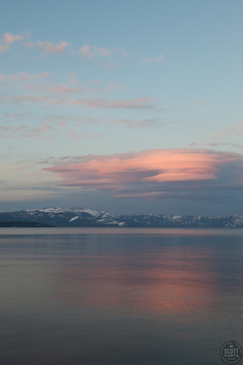 """Sunset at Lake Tahoe 13"" - This sunset was photographed from the West Shore of Lake Tahoe, CA"