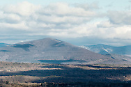 """Marbletown, New York - The """"Million Dollar View"""" of the Catskill Mountains from the Spring Farm Trailhead at he Mohonk Preserve on April 11, 2015."""
