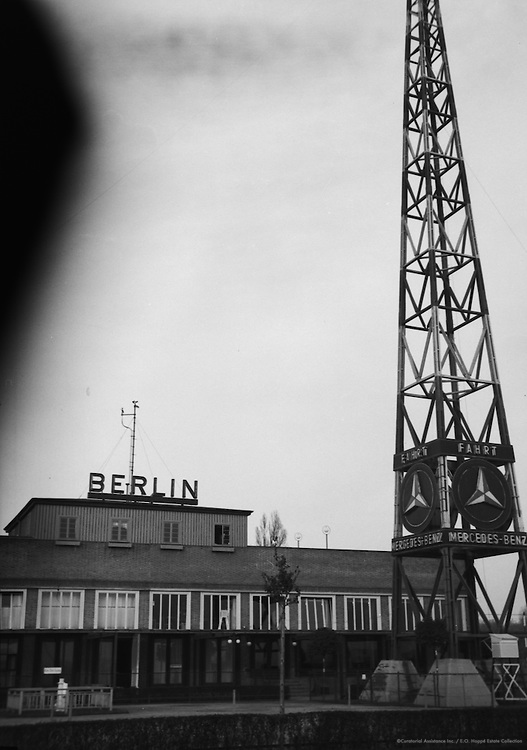 'Drive Mercedes Benz', Sign in Front of Industrial Building, Berlin, circa 1931
