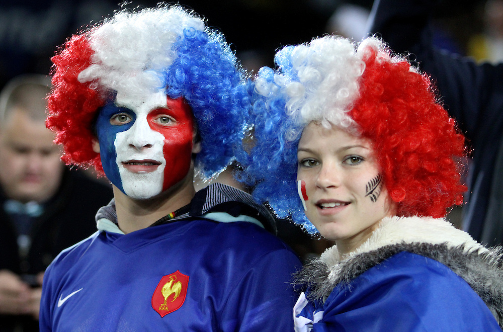 French fans against England in their Rugby World Cup quarter-final match at Eden Park, Auckland,  New Zealand, Saturday, October 08, 2011. Credit:SNPA / John Cowpland