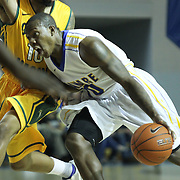 Delaware Guard Devon Saddler (10) drive to the basket in the first half of a regular season NCAA basketball game against George Mason Saturday, March 2, 2013 at the Bob Carpenter Center in Newark Delaware.