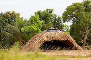 Thatched shed in the Macurije area, Pinar del Rio, Cuba.