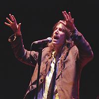 American poet singer Patti Smith in concert at Glasgow Royal Concert Hall, in Glasgow, Scotland, in 1996. .Rex 261718 JSU.