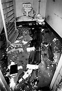 PRISON RIOT1   2-5-80  PIPES    AP2 MILLENNIUMThe Cell in which a prisoner in protective custody was killed, dragged out his cell and tossed off the second tier during the New Mexico State Prison riot.