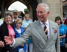 JUL 08 2014 Prince Charles visits Glastonbury Abbey, Somerset 080714