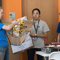 Treefort Music Festival, Hackfort: Robot Build workshop by the Steve Swanson-mentored team of all-girl FIRST Robotics entrant, The Chickadees, Allison Corona photo.