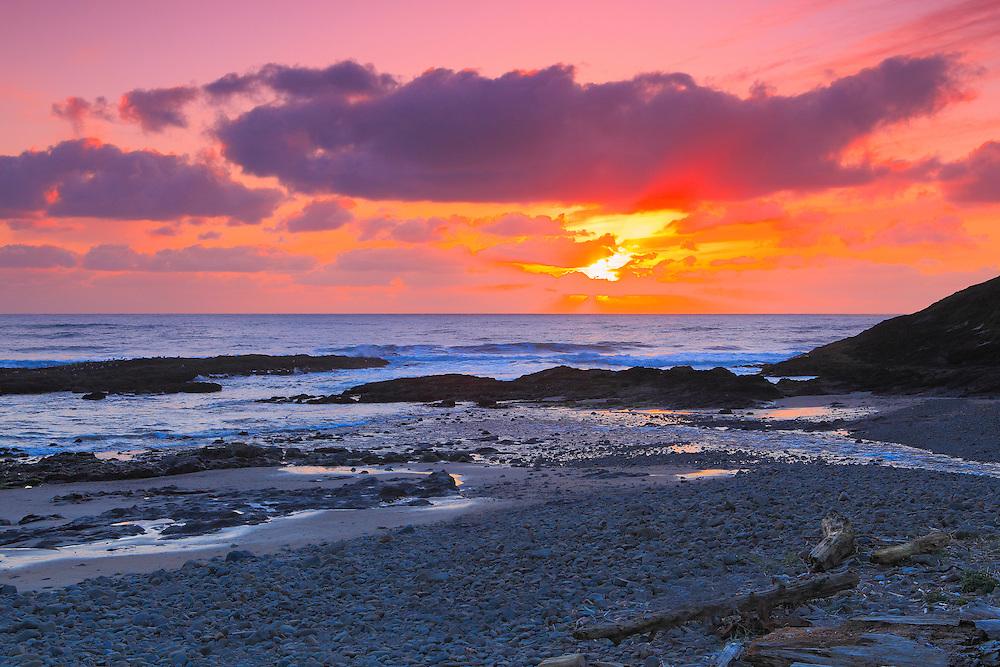 Sunset Bob Creek - Oregon Coast