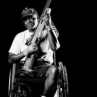 TAMPA, FL -- Clinton Skinner (Army) of Seattle, Wash., poses for a portrait during the National Veterans Wheelchair Games presented by the U.S. Department of Veterans Affairs and Paralyzed Veterans of America in Tampa, Fla., this week.  (PHOTO / Chip Litherland for ESPN.com)
