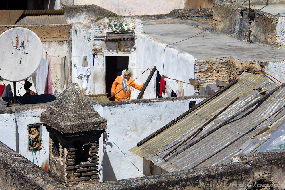 North Africa, Morocco, Fes. Rooftops of Fes.