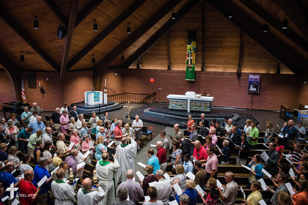 The 2014 Institute on Liturgy, Preaching and Church Music opens Monday, July 28, 2014, with worship at St. John Lutheran Church next to Concordia University, Nebraska, in Seward, Neb. LCMS Communications/Erik M. Lunsford