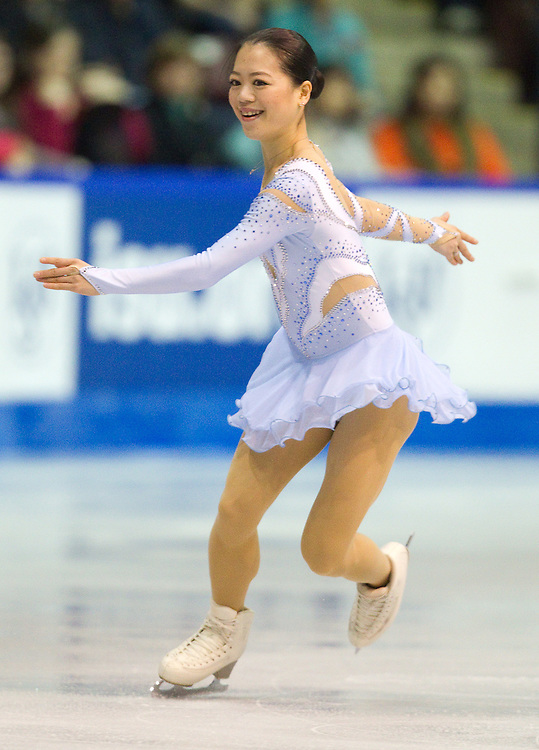GJR392 -20111029- Mississauga, Ontario,Canada-  Akiko Suzuki of Japan skates her free skate at Skate Canada International, in Mississauga, Ontario, October 29, 2011.<br /> AFP PHOTO/Geoff Robins