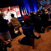 ORLANDO, FL -- September 22, 2011 -- Republican presidential candidate Gov. Rick Perry speaks during the Florida P5 Faith and Freedom Coalition Kick-Off at the Rosen Centre Hotel in Orlando, Fla., on Thursday, September 22, 2011.  Nine Republican presidential candidates congregated for a Fox News / Google Debate.   (Chip Litherland for The New York Times)