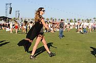 Shirt and Shorts with Orange Trim and Tassels, Coachella Day Three