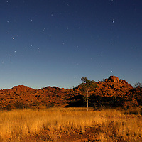 Sky with stars at Mowani Mountain Lodge, Damaraland, Kunene Region, Namibia