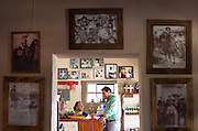 Lilia Falcón, left, and husband Bernardo Rogel, right, run the restaurant and gift shop founded by her father José Falcón in 1973. José was one of the town's most visible residents, an unofficial mayor who died in 2000.