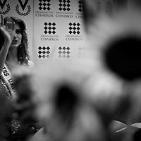 Miss Universe 2009 Venezuelan Stefania Fernandez during a press meeting in Caracas, Monday, Sept. 21, 2009. (ivan gonzalez)