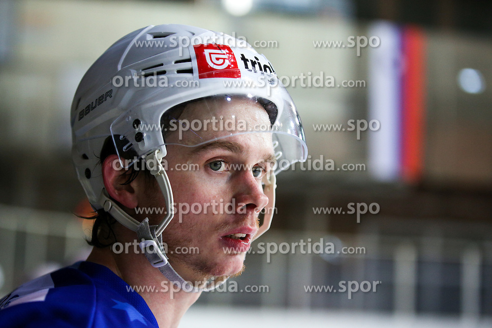 Ziga Jeglic of Slovenia during friendly ice hockey match between Slovenia and Croatia, on April 12, 2016 in Ledena dvorana, Bled, Slovenia. Photo By Matic Klansek Velej / Sportida