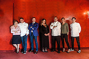Bergamo, Da Vittorio Restaurant, i Cerea da sn Bruna, Enrico, Francesco, Barbara, Roberto, Rossella, Vittorio.