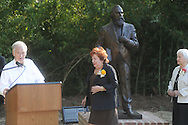 dedication of the LQC Lamar statue at the LQC Lamar House in Oxford, Miss. on Saturday, October 9, 2010.