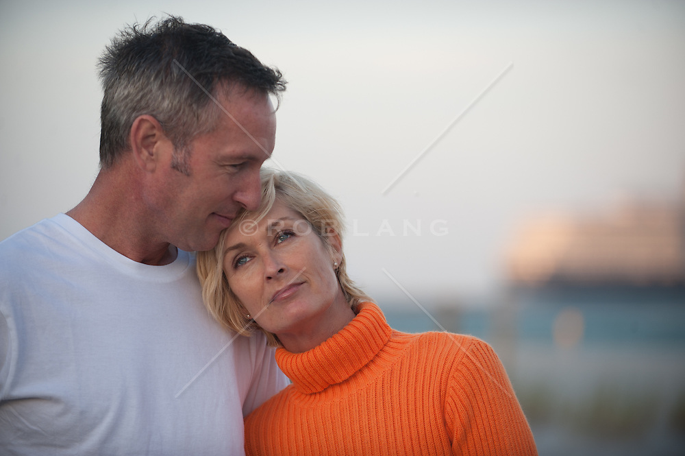 middle aged couple outdoors together