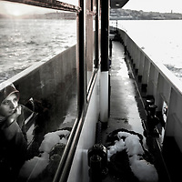 USE ARROWS &larr; &rarr; on your keyboard to navigate this slide-show<br /> <br /> Istanbul, Turkey 18 February 2008<br /> View of a Turkish woman inside a ferry crossing the Bosphorus strait.<br /> Photo: Ezequiel Scagnetti