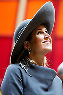 17-10-2013 – ZWOLLE – Dutch Queen Maxima opens the Isala Hospital in Zwolle. COPYRIGHT ROBIN UTRECHT