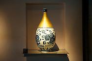 A ceramic vase on display inside the Yingge Ceramics Museum.