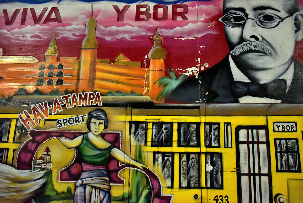 Viva ybor mural of ybor city in tampa florida encircle for City of tampa mural