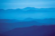North Carolina. Blue Ridge mountains on Blue Ridge Parkway