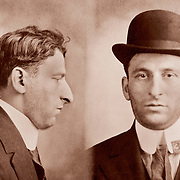 """1915 mug shot from New Jersey 31 year old """"larceny from person"""" suspect"""