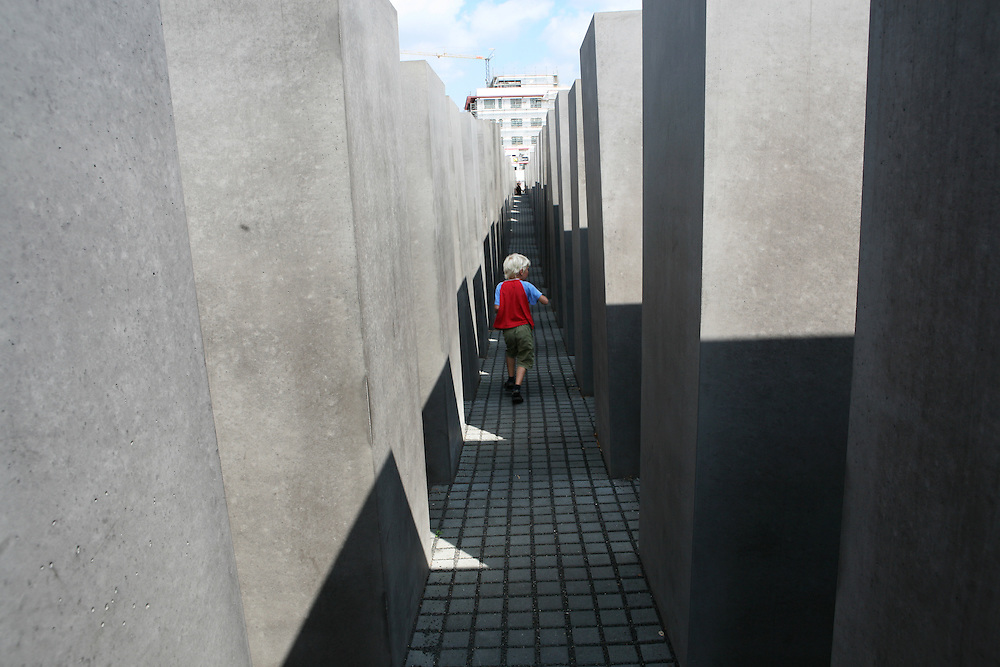 Berlin, Germany, August 13, 2007. Holocaust Memorial designed by the American architect Peter Eisenman.