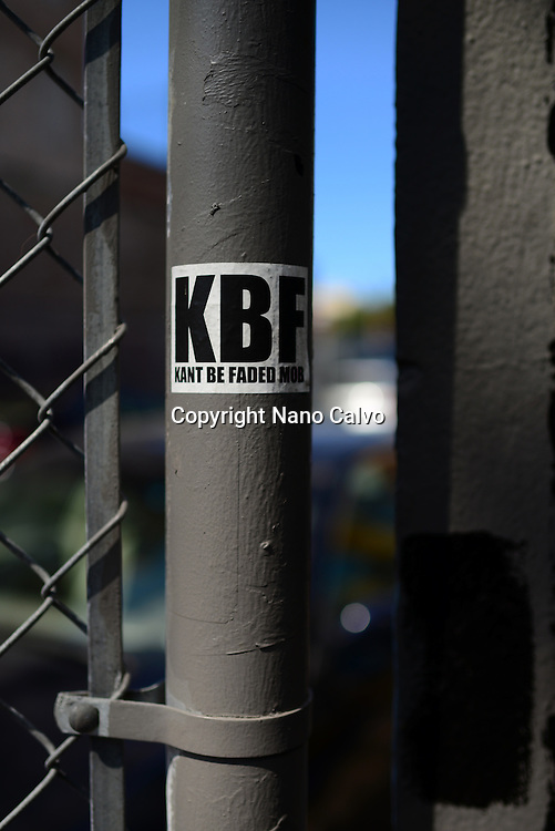 Sticker reads Kant Be Faded (KBF) in San Francisco.