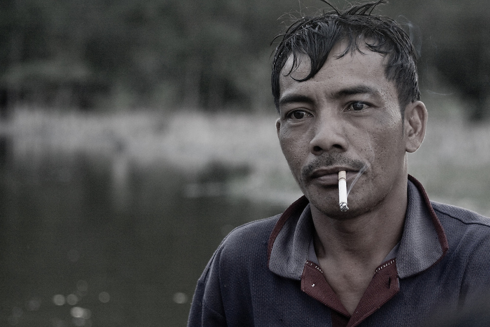 A local man smokes in Central Sulawesi, Indonesia