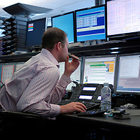 The trading floor at MAN Investments in The City of London...