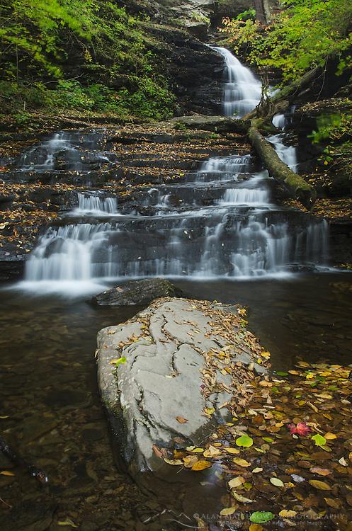 Huron Falls Ricketts Glen State Park, Pennsylvania