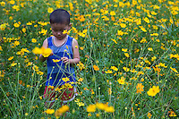 Vietnamese Child Flowers