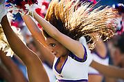 The Ravens' cheerleadeers perform as Baltimore beat the Oakland Raiders 55-20 at M&T Bank Stadium.
