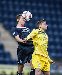 Falkirk's Will Vaulks and <br /> Falkirk 1 v 0 Queen of the South, Scottish Championship game today at the Falkirk Stadium.<br /> &copy; Michael Schofield.
