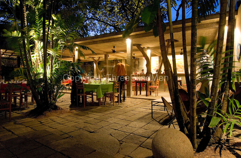 The Barefoot Garden Cafe in Colombo. At dusk..<br />