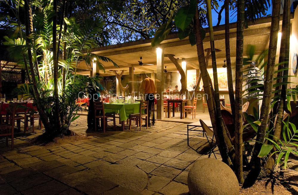 The Barefoot Garden Cafe in Colombo. At dusk..<br /> <br /> Architect: Amila de mel