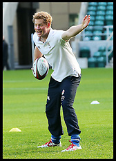 OCT 17 2013 Prince Harry at rugby coaching session
